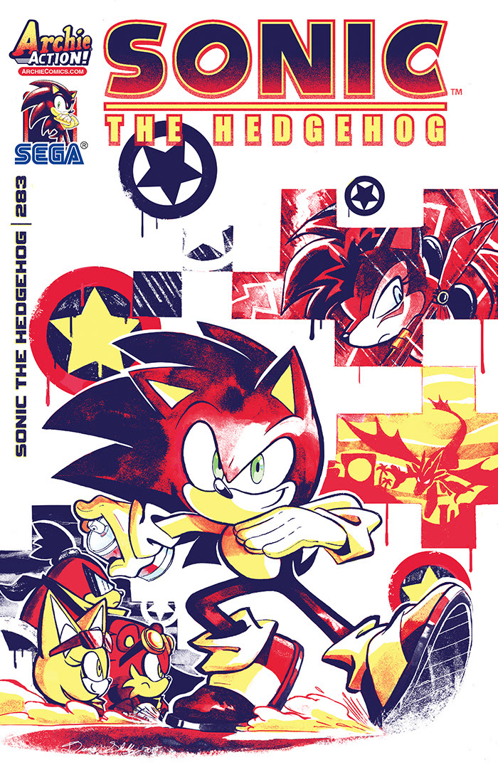 Sonic the Hedgehog #283 cover by Diana Skelly