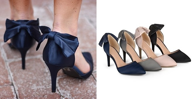 Bow Pointed Toe D`orsay Pumps!