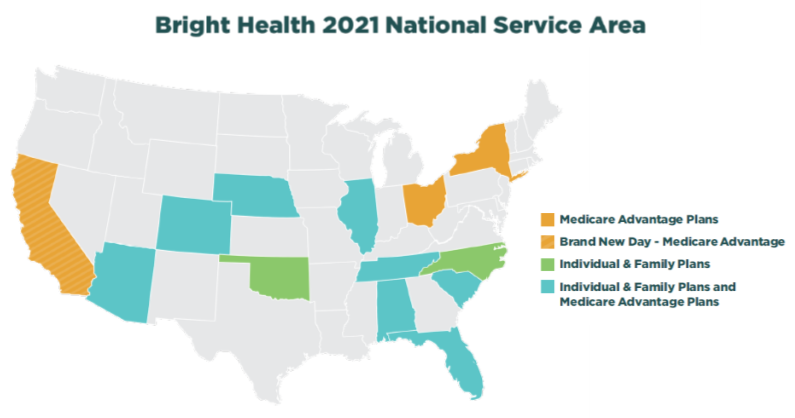 2021 Bright Health IFP Service Area Maps_070620 v3