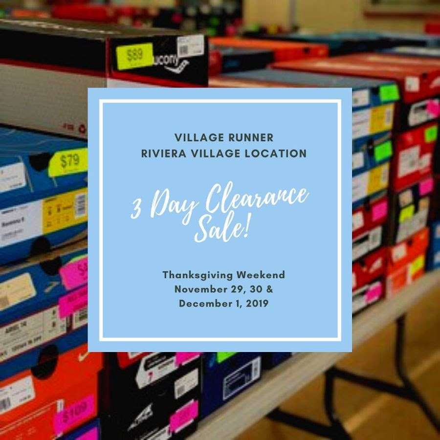 Village Runner, Riviera Village 3-Day clearance sale