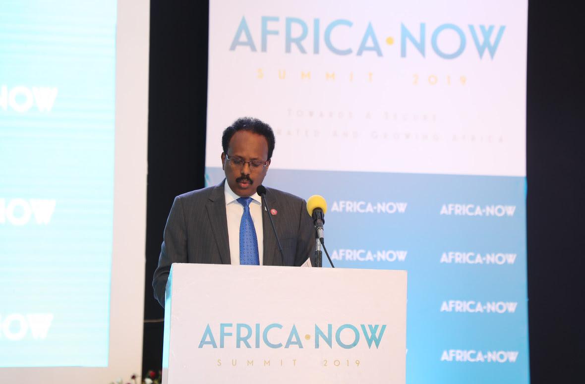 Madaxweyne Farmaajo oo khudbad ka jeediyay shirka AFRICA-NOW ee Uganda Photo Villa Somalia Ali Dualle-10