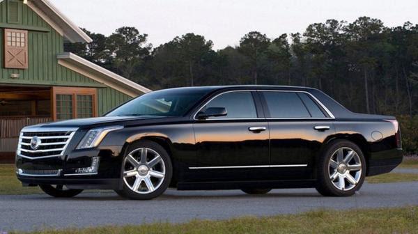 Un auto Cadillac modelo Escalade sedan
