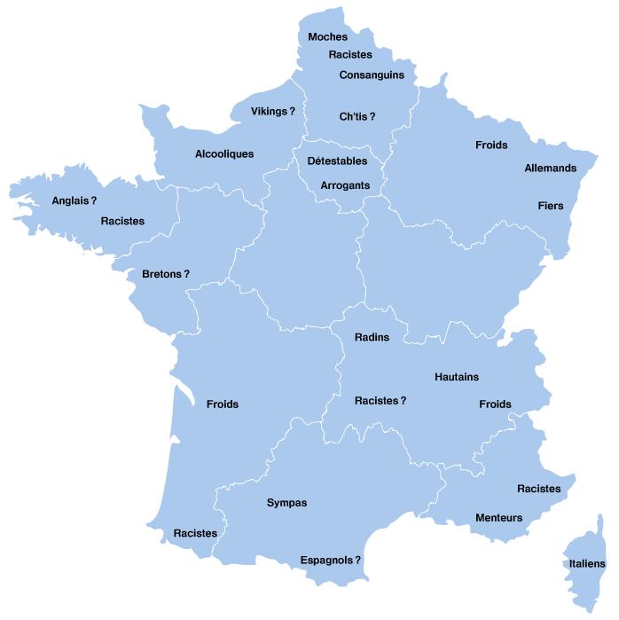La France des préjugés selon Google