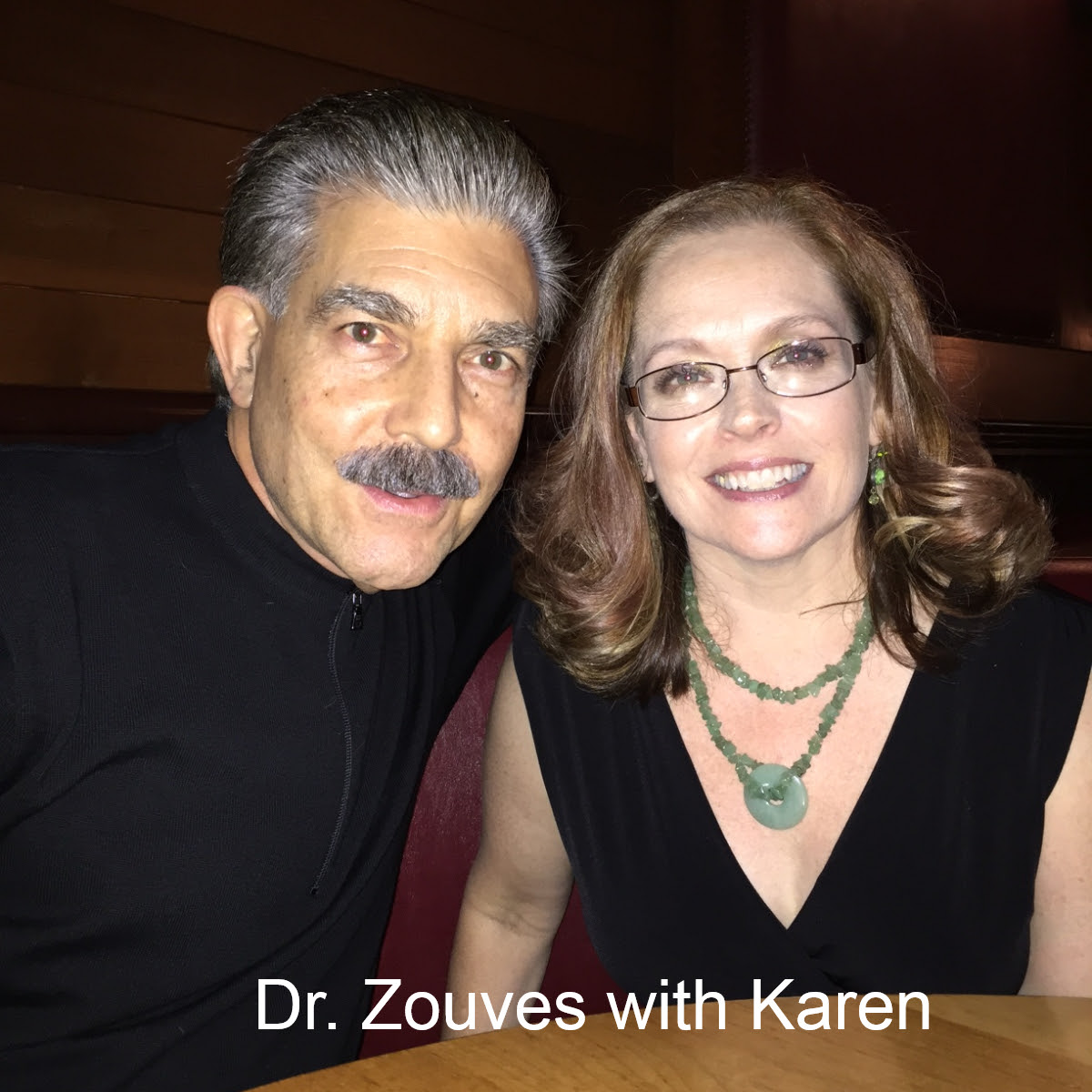Dr Zouves with Karen