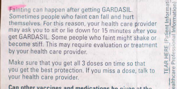 Gardasil Vaccine Insert 16 - vacunas preguntas que nunca te permitirán realizar