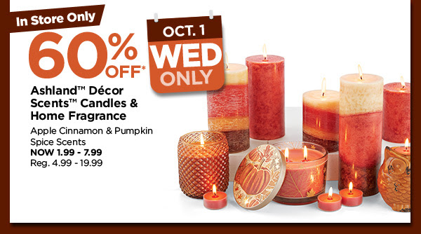 60% off Ashland™ Décor Scents Candles & Home Fragrance