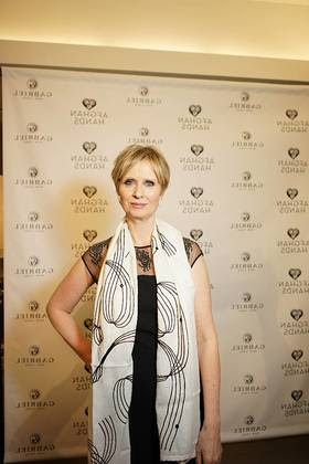 Cynthia Nixon at Gabriel & Co. and Afghan Hands Shopping Event
