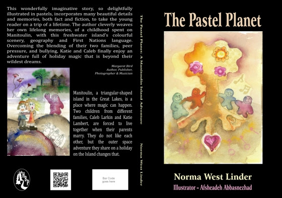 Book - THE PASTEL PLANET - Norma West Linder - F and B Cover