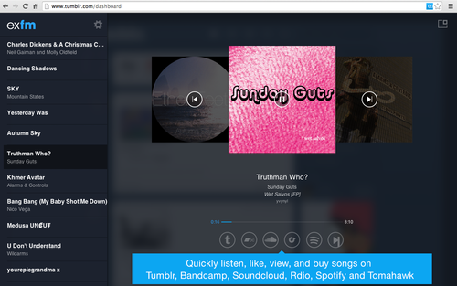 tumblr inline my4hianwLA1qzohff Exfm shutting down January 15, creates export tool and Chrome extension to let users keep music