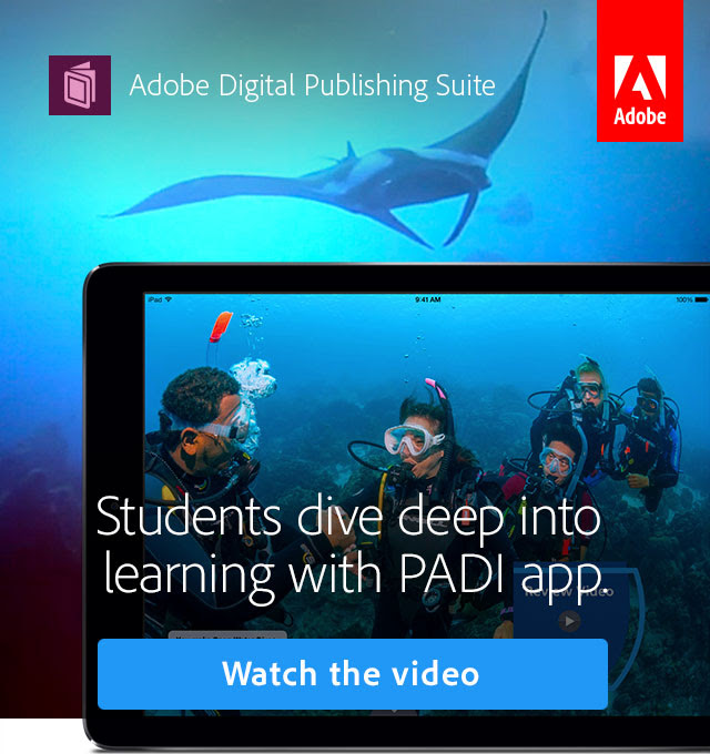 Students dive deep into learning with PADI app. Watch the video