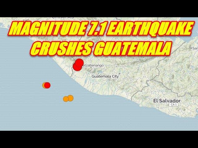 BREAKING NEWS - MAGNITUDE 7.1 EARTHQUAKE GUATEMALA  Sddefault