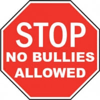 STOP no bullies allowed sign