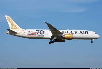 PH04308 | Phoenix 1:400 | Boeing 787-9 Gulf Air 70th A9C-FF | is due: January 2020