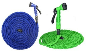 Spring Cleaning Expandable Flexible Garden Hose with Spray Nozzle