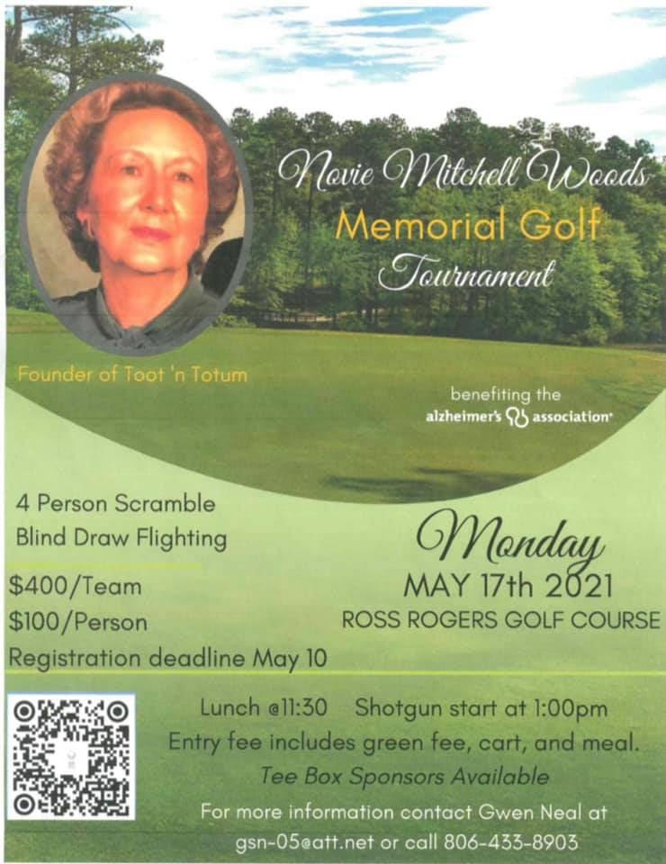 Novie Mitchell Woods Memorial Golf Tournament @ Ross Rogers Golf Course