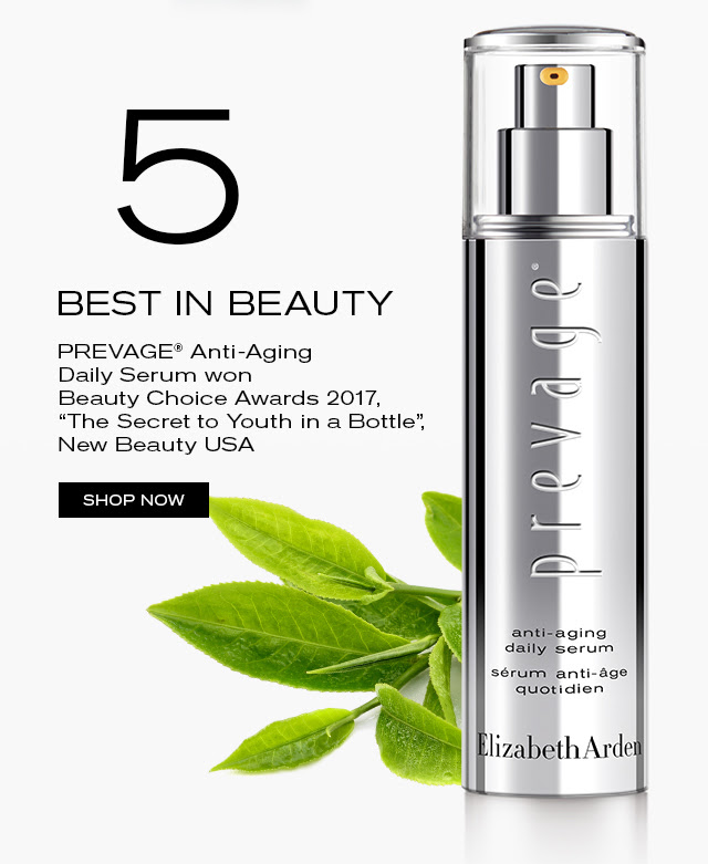 """BEST IN BEAUTY PREVAGE® Anti-Aging Daily Serum won Beauty Choice Awards 2017, """"The Secret to Youth in a Bottle"""", New Beauty USA SHOP NOW"""