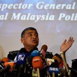 Le chef de la police royale malaisienne Khalid Abu Bakar lors d'une conférence de presse sur l'assassinat de Kim Jong-nam, demi-frère de Kim Jong-un, à Kuala Lumpur le 22 février 201. (Crédits : AFP PHOTO / Manan VATSYAYANA)