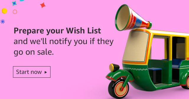Prepare your wish list & be notified
