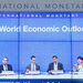 """The World Economic Outlook news conference at the headquarters of the International Monetary Fund in Washington on Wednesday. """"The present good times will not last for long,"""" said Maurice Obstfeld, chief economist of the I.M.F."""