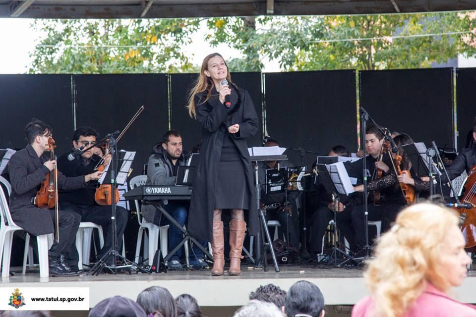 Orquestra filarmônica no Musica na Praça, em Tatui