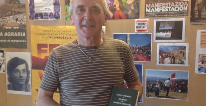 El diputado de Amaiur, Sabino Cuadra. J.A.B.