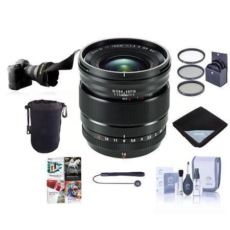 XF 16-55mm F2.8 R LM WR Lens - Bundle with 77mm Filter Kit, Flex Lens shade, Lens Wrap, Cl
