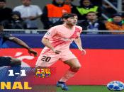 Sin el argentino Lionel Messi en cancha, el equipo catalán consigue un empate que los clasifica a la siguiente fase.