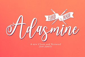 Adasmine Clean & Textured Script