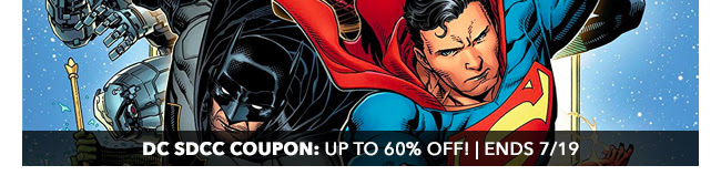 DC SDCC Coupon: up to 60% off! | Ends 7/19