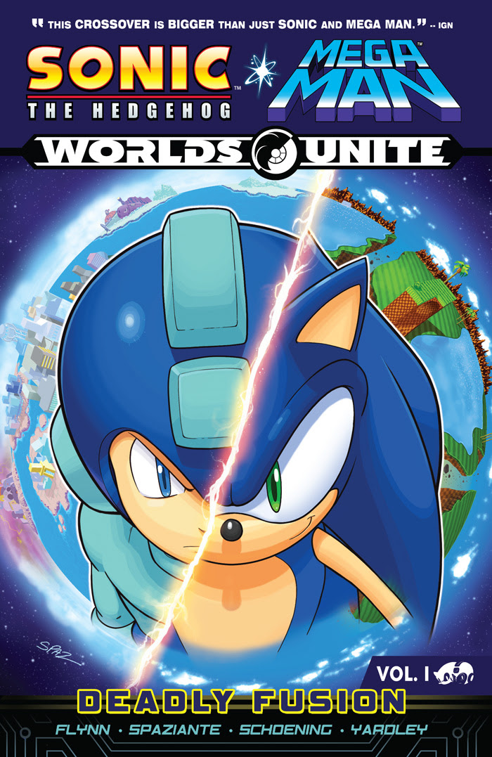 Sonic/Mega Man: Worlds Unite Vol 1 - Deadly Fusion cover by Patrick Spaziante