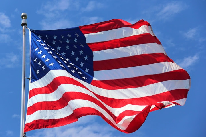 CCO - Public Domain Image - American Flag Waving