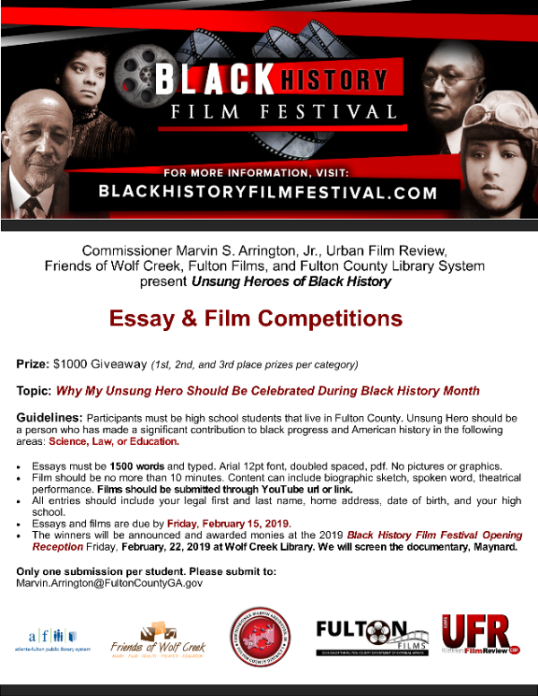 High School Students' Essay & Film Competitions