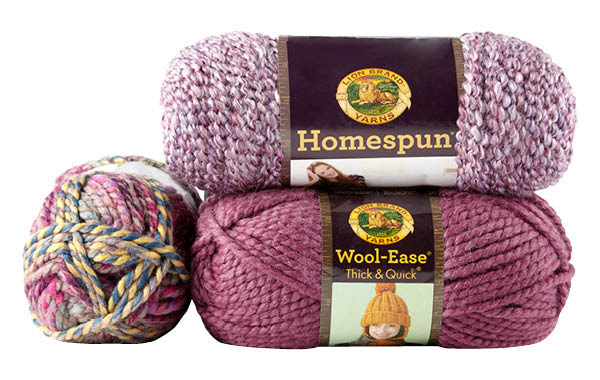 LionBrand Homespun & Wool Ease Think & Quick Yarn
