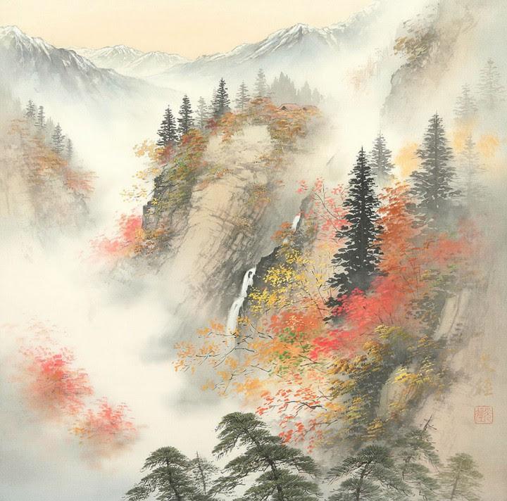 Картинки по запросу Цвета на всех пейзажах немного приглушенные, подернутые