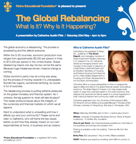 Catherine Austin Fitts: The Global Rebalancing