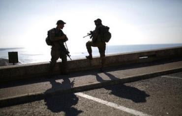 IDF troops on duty near Rosh Hanikra