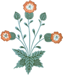 Footer flower image