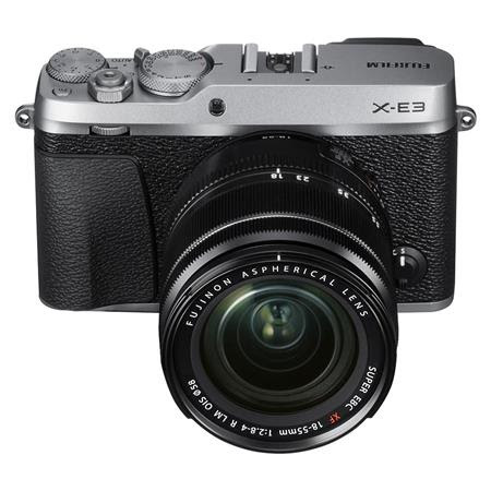 X-E3 Mirrorless Camera, Silver, with XF 18-55mm f/2.8-4 R LM OIS Zoom Lens