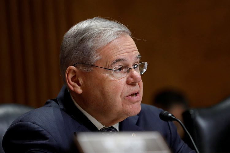 Sen. Robert Menendez speaks during a Senate Foreign Relations hearing. (Aaron P. Bernstein/Reuters)