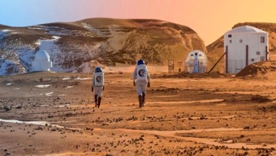 La primera estación marciana sería construida por robots, que serían controlados a distancia por humanos. Cortesía: NASA