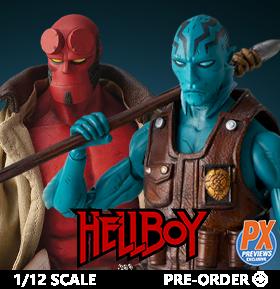 Hellboy & Abe Sapien 1/12 Scale PX Previews Exclusive Action Figures