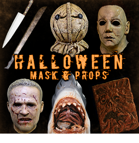 NEW HALLOWEEN MASKS AND PROPS
