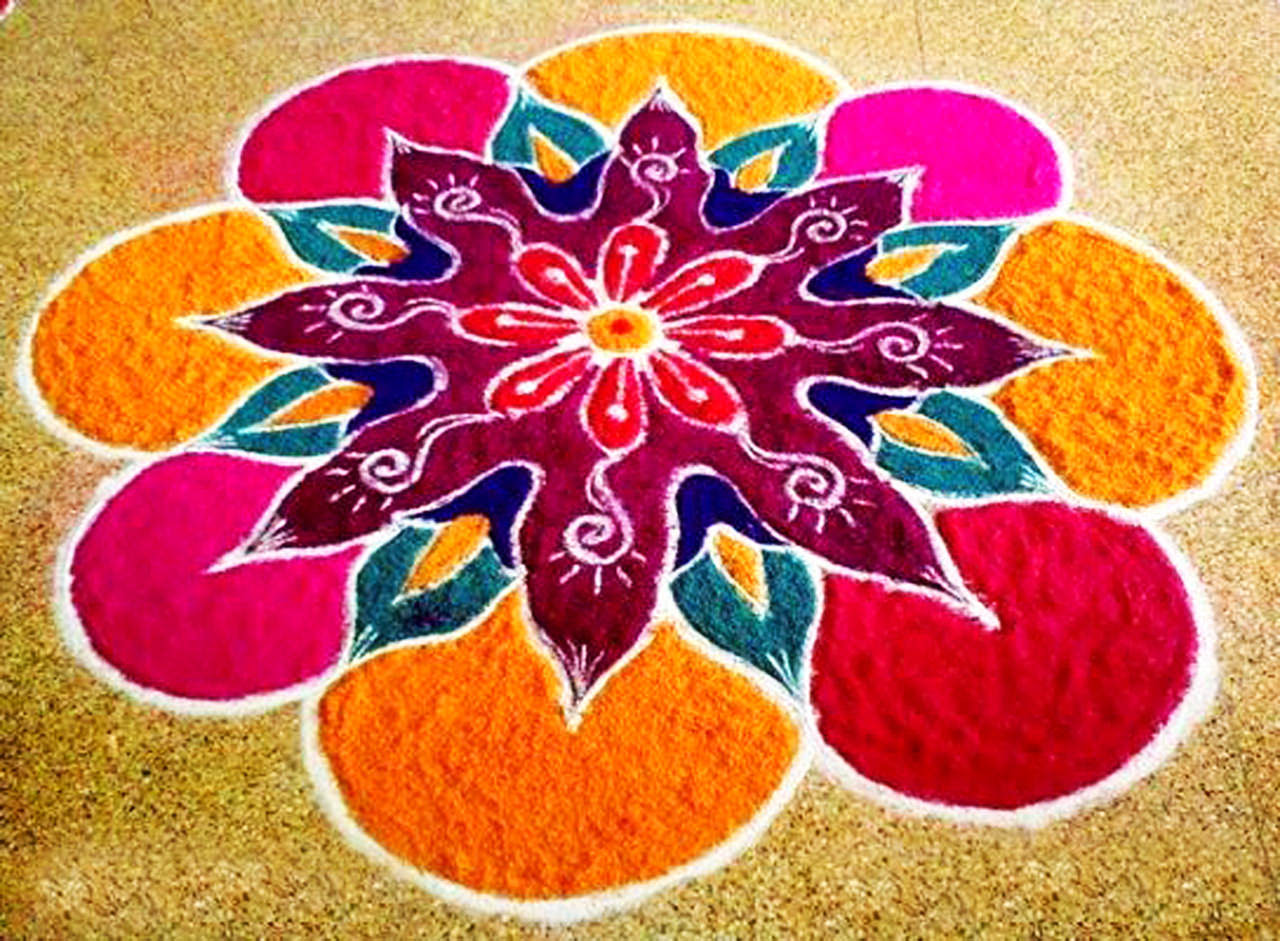 Simple Easy Rangoli designs