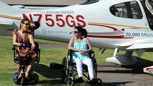 FLY for MS en Chile. 'Nos inspiramos por el coraje de quienes viven con EM', dijo Vykruta.