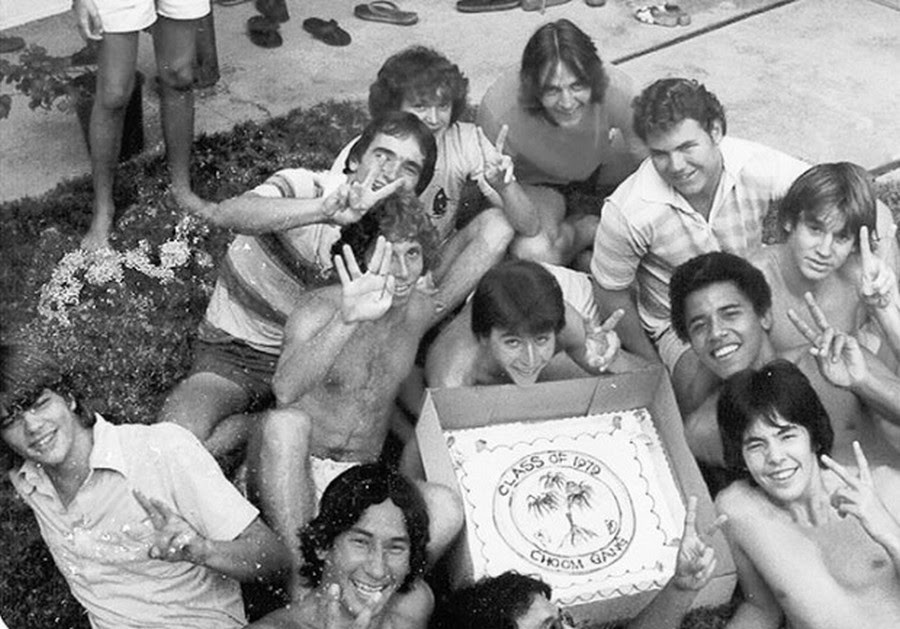 1979                                                          barack obama                                                          with choom                                                          gang on                                                          hawaii