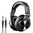 CLAW SM50 Professional Studio Monitoring DJ Headphones with 2 detachable cables (2.8m Coiled Cable & 1.2m Straight Cable with Mic and In-line Controls)