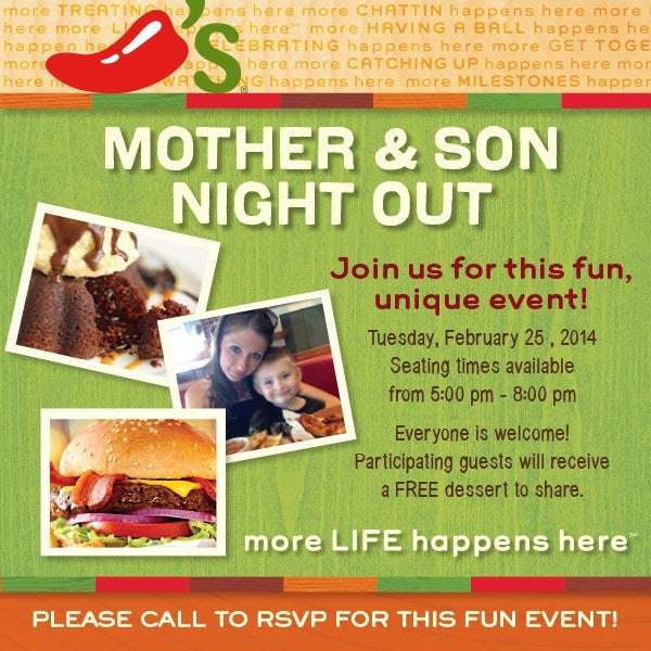 Chili's Mother and Son Night Out