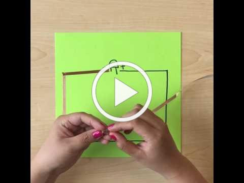 60 Seconds DIY Paper Circuit Tutorial