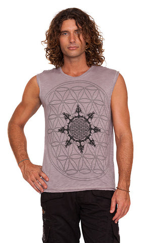 Etnix Mens Flower of Life Sleeveless T-Shirt