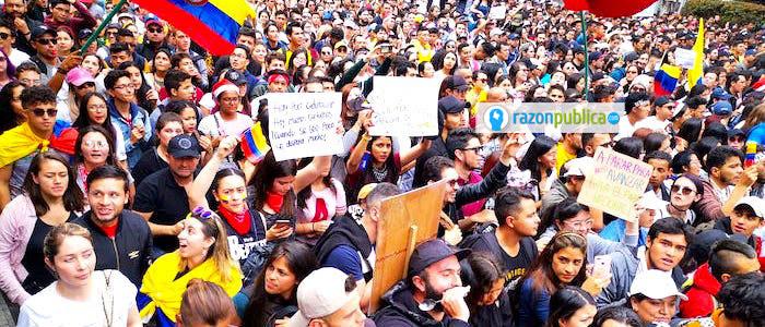 Los jóvenes que han salido a marchar, lo mejor que tiene Colombia y a los que este gobierno no tiene nada que ofrecerles.